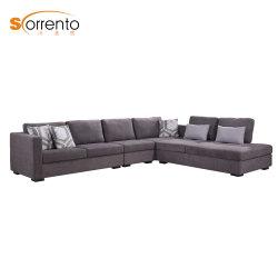 Heißes verkaufendes populäres L Form/EckMorden Gewebe-Polsterung-Sofa 7 Seater mit Funktions-Wagen-Wohnzimmer-Möbeln