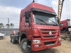 販売のためのダンプカーの半トレーラーHOWO CNGのトラクターのトラック10の荷車引きのトラックが付いている最もよい420HPによって使用されるCNGのトラクターのトラック