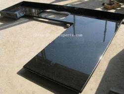 Natural Black Galaxy laminado piedra de granito encimeras de cocina / baño