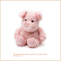 Nach Maß reizendes rosafarbenes Schwein-Kissen für Baby-weiche Spielwaren