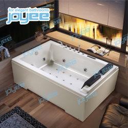 Joyee 장방형 실내 2개의 편들어진 치마 한 쌍 성 Jacuzzi 소용돌이 목욕 온수 욕조 온천장