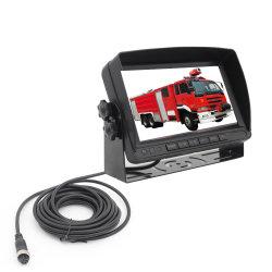 7 de Vrachtwagen van de Brandbestrijding van de Monitor van de duim/Systeem van de Camera van de Mening van het Voertuig van de Noodsituatie het Achter met het Parkeren van Sensor