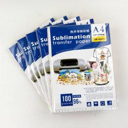 Sublimation-Papier der Größen-A4 für helle Farben-Kleidung 100 Blätter/Satz 20 der Satz-/Karton