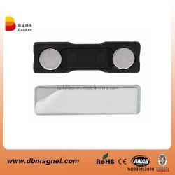 Mehrfachverwendbares magnetisches Namensabzeichen für Identifikation-Marken-Halter und Klipp