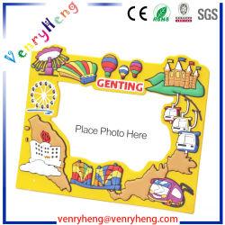 Venda quente Custom 3D Soft PVC adorável moldura fotográfica de imagem
