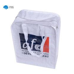 Runde Ecken-Laminierung-pp. gesponnene packende Einkaufstasche mit Reißverschluss
