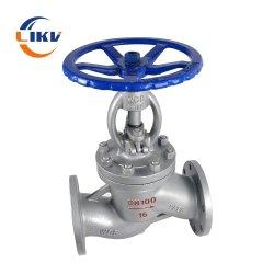 Pn16 Fonte haute température/acier moulé en acier inoxydable/CF8CF8 m joint de bride d'eau de la vapeur en dessous de la soupape de Globe