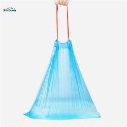 Meilleure vente coulisse en plastique durable de la corbeille des sacs de poubelle de déchets Drawtape sac poubelle