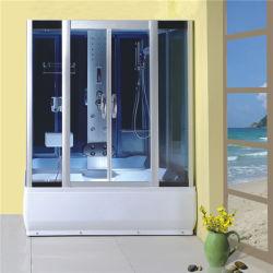 Doccia di alluminio del vetro temperato di rettangolo del blocco per grafici della stanza da bagno con la radio