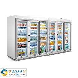 Стеклянные двери в коммерческих целях холодильник, холодный напиток/фрукты охлажденных шкафа электроавтоматики