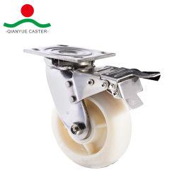 Белый нейлон из нержавеющей стали с самоустанавливающегося колеса для тяжелого режима работы тормоза