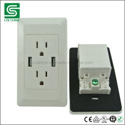 Amerikanischer Standardelektrischer USB-Wand-Kontaktbuchse-Duplexanschluß mit ETL