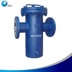 ASME B16.34 Simplex industriais de aço inoxidável 304 Corpo e tela de Filtração Industrial Flangeado filtrador de cesto para serviço de Vapor