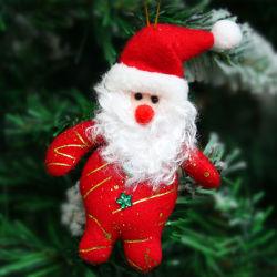 13cm de Navidad colgando de peluche Mini Toy entrañable Santa Claus el muñeco de nieve Navidad Regalo Adorno Decorativo