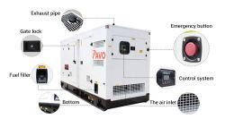625kVA/500kw Aplicações do Motor Diesel utilizado para a escola conjunto gerador de energia
