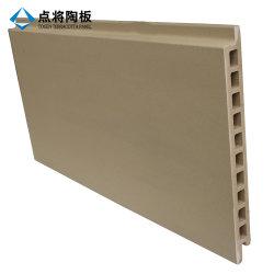 Parete a tendina gialla rossa grigia con superficie scanalata naturale da 30 mm Pannello in terracotta per facciate con schermo a pioggia per materiali edili