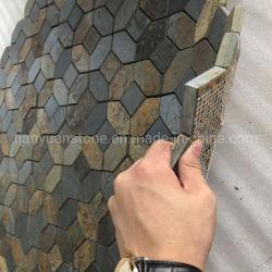 Сетка Ржавыми Slate мозаики плитки для установки на стену/пол