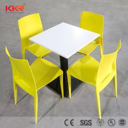 Eettafel van het Snelle Voedsel van het Restaurant van Kkr de Witte met 4 Zetels
