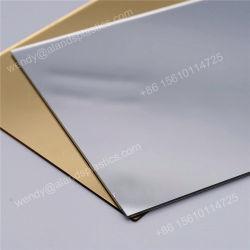 Placa em acrílico de alta qualidade 6mm 1220*1830mm Espelho de prata folha a folha de espelho em acrílico acrílico