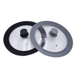 16/18/20cm Universal Ustensiles de cuisine Couvercle en verre Pot couvercle en silicone