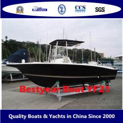 Bestyear 21FT グラスファイバー OEM スポーツスピードフィッシングボート