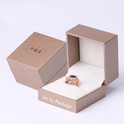 Papel personalizado Hinger plástico de jóias caixa de embalagem para Anel O
