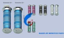 합금과 PVC의 기관자전차 부속품 손 그립