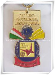 Personalizar el Zinc fundido a Soft enamel y chapado en oro con la medalla conmemorativa de la cinta de opciones para premios