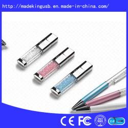 فلاش USB فاخر بكريستال مع ماسات ملونة ليحلى