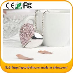 Joyas en forma de corazón una unidad flash USB U disco de metal para regalo (ES536)
