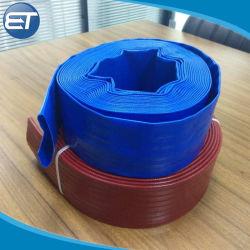 4 polegadas de fixar a mangueira plana, PVC Layflat a mangueira de descarga do Tubo / / Tubo