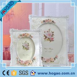 Vintage White Rose Fleur décor d'accueil photo frame de la résine de l'image