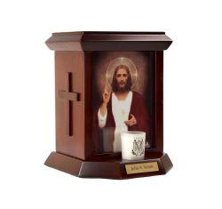 Urna di legno del cuore sacro del Jesus