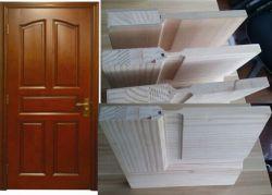 Porte de bois/Porte en bois massif avec châssis solide complet