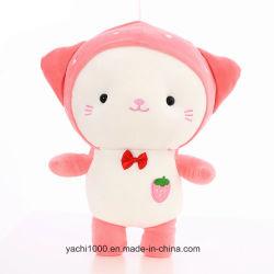 新しい項目によって詰められるプラシ天の動物のおもちゃのかわいいいちご猫のギフト