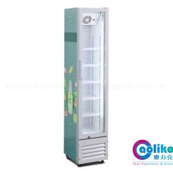 Porta de vidro fino Hot-Sale New-Design Refrigerador com sem canópia em alta iluminação de LED