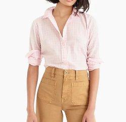 [هيغ قوليتي] استرخ نساء قمصان في [كرينكلي] [غنغهام] [بليد] قمصان