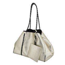 Hot Sale Fashion personnalisé sac fourre-tout en néoprène Silver Beach