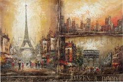 パリの通り場面油絵(ADA9032)