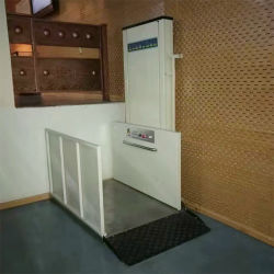 전기 수직 신체장애 무능 층계 플래트홈 무능한 연장자를 위한 유압 가정 휠체어 승강기