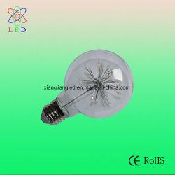 Lâmpada Vintage LED G80, levou a lâmpada Vintage Global, LED G80 Luz decorativa de vidro transparente ângulos de 360 graus