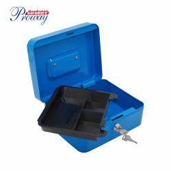 携帯用金属の錠機構の取り外し可能なプラスチック皿が付いている安全な現金ボックス
