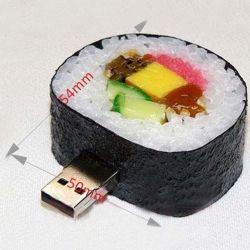Azionamento chiave dell'istantaneo del USB dei sushi del PVC del USB 8GB 16GB dei sushi divertenti dei dispositivi