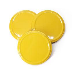 Amarelo 43mm Vara metálica cap Tampas de folha de flandres para garrafa de vidro