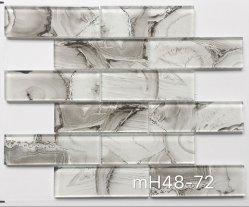 La conception de marbre de brique de carrelage en mosaïque de verre