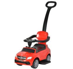 子供の赤ん坊は押しのハンドルが付いている車のおもちゃの乗車を認可した