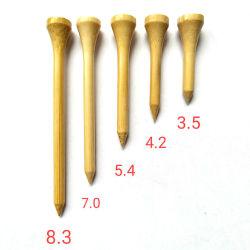 O logotipo personalizado de bambu de madeira Golf Tees 3.5/4.2/5.4/7/8.3CM