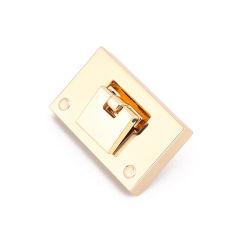 La lumière de l'or fermoir métal Twist Lock pousser le verrouillage des accessoires pour sac à main/sac à main/bagages
