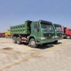 HOWO 6X4 10 Wheelers зеленый цвет Самосвал погрузчик самосвального кузова