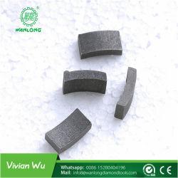 Segment de diamant Outils Granite de coupe utilisées sur le pont la lame de scie